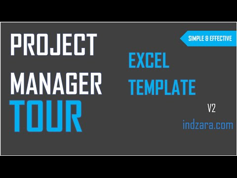 Project Manager Excel Template v2 - Tour