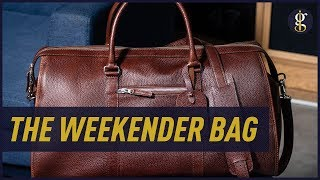 LEATHER WEEKENDER BAG | 5 Qualities To Look For In A Duffle Bag (Beckett Simonon Davis)