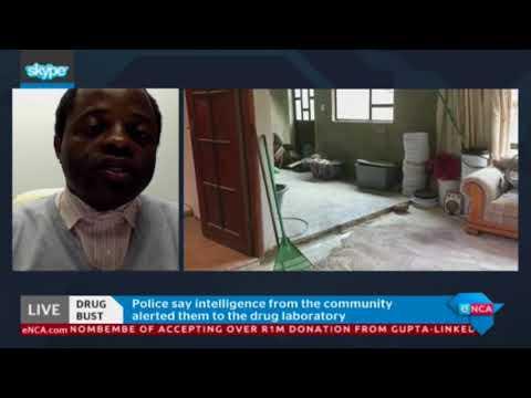 Police uncovered drug den in Soweto last night