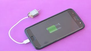 How to Make a Emergency Mobile Phone Charger Using DC Motor, Power Bank for Smartphone Charger Home