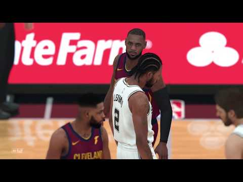 NBA 2K18 San Antonio Spurs vs Cleveland Cavaliers Gameplay