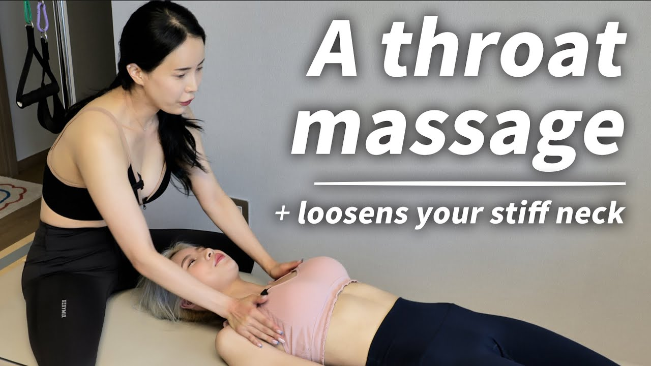 A throat massage that loosens your stiff neck ㅣ 굳은 목을 풀어주는 목빗근 마사지