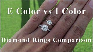 E vs I Color Diamond Engagement Ring Comparison
