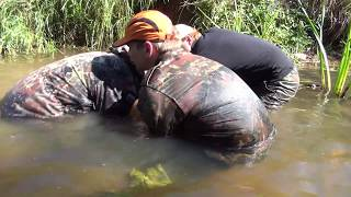 Pulled out threesome! Searching relics of WW2  in the River