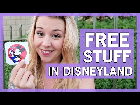 How to get FREE stuff at Disneyland | Thingamavlogs