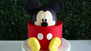 Easy Disney Mickey Mouse Cake!