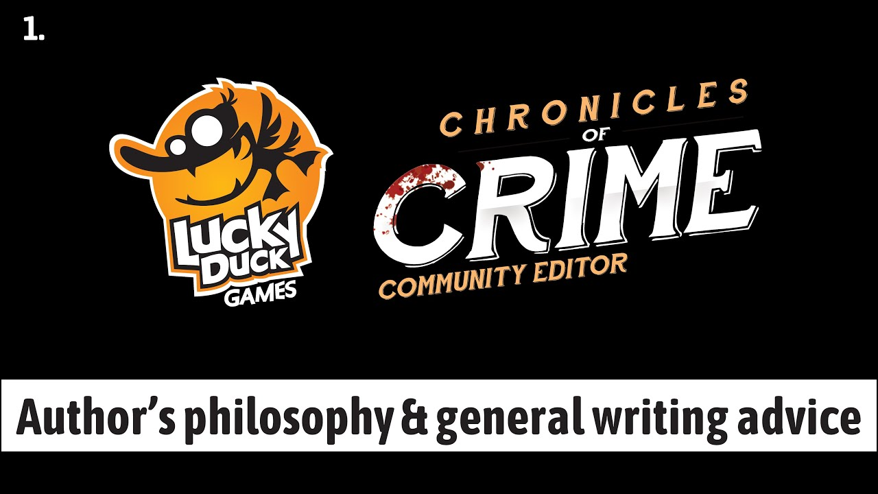 Lucky Duck Games - Chronicles of Crime Community Editor