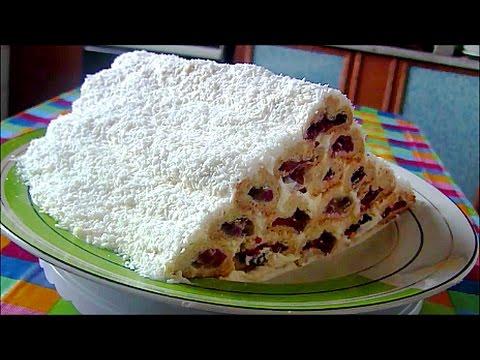 Торт  Монастырская изба  (Дрова под снегом) со сливой и красной смородиной cake Monastic hut