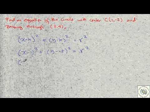 Analytic Geometry [Circle Sample Problem]