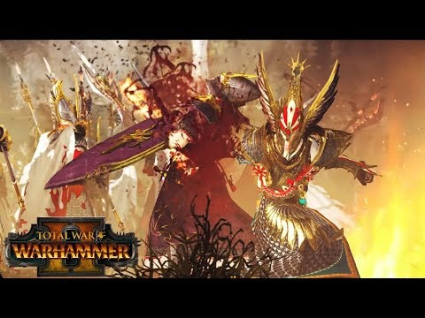 High Elves vs. Dark Elves - Battle of the White Tower - Blood and Gore Warhammer 2 Cinematic