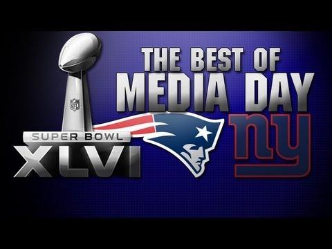 Wes Welker, Eli Manning, and the best of Super Bowl XLVI Media Day