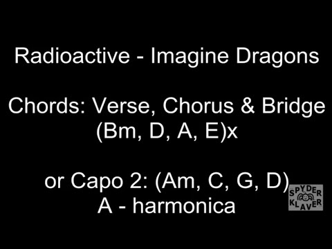 Radioactive - Imagine Dragons - Lyrics - Chords