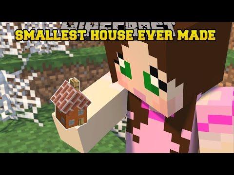 Minecraft: SMALLEST HOUSE IN MINECRAFT WORLD RECORD!!!