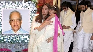 Bollywood Celebs ने दी Aishwarya Rai के पिता को श्रद्धांजलि Full Video HD   Amitabh,Abhishek,Sridevi