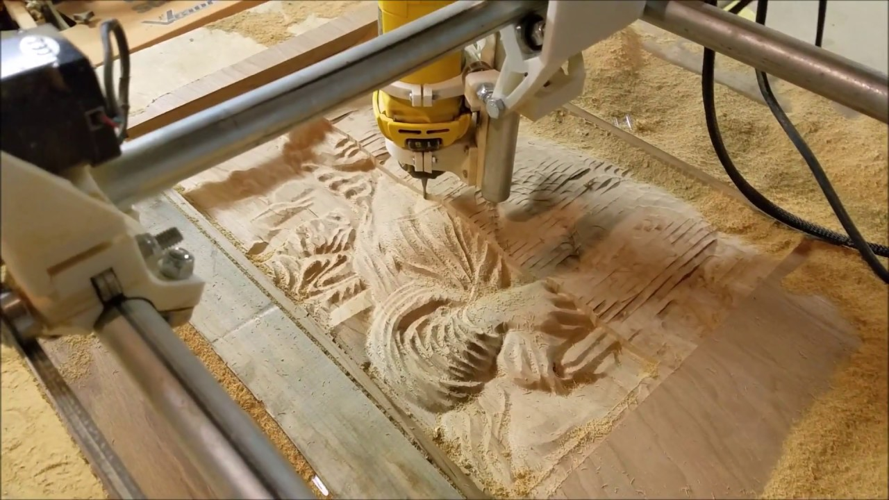 MPCNC carving a scarab by Barry Woods