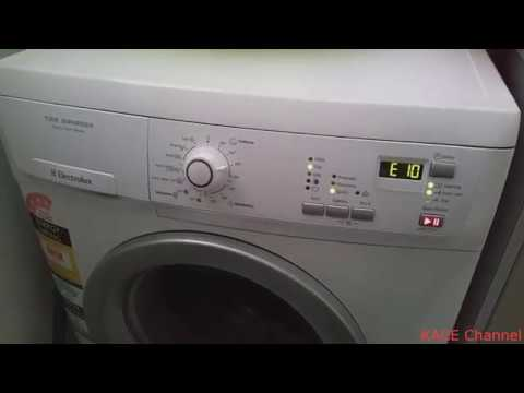 Electrolux Front Loader Washing Machine E10 Error Youtube
