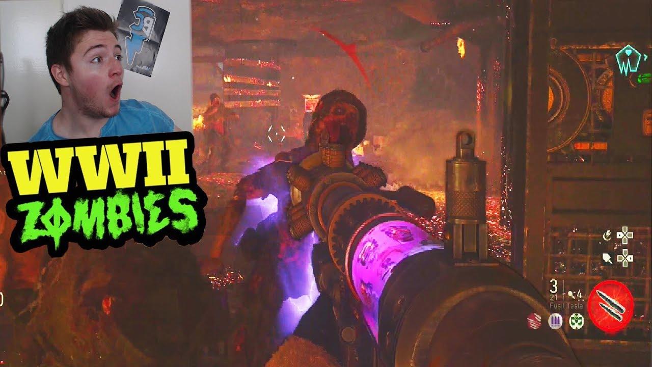 ww2 zombies decouverte secret easter egg call of duty ww2 zombies youtube