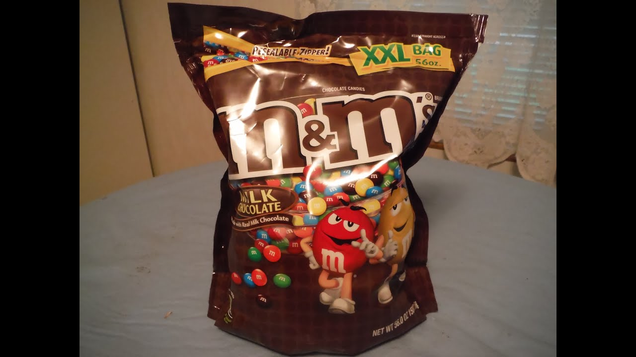 Idiot Takes On A 3 5 Lb Party Bag 56 Oz Of Chocolate M Ms Challenge You