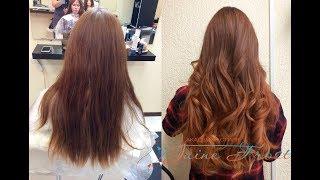 Окрашивание Омбре на очень длинных волосах