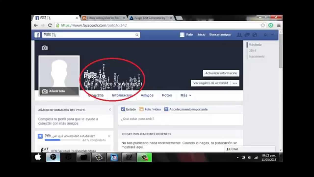 Como Puedo Escribir Mi Nombre En Arabe En Facebook poner nombre raro en facebook con tachado, subrayado o