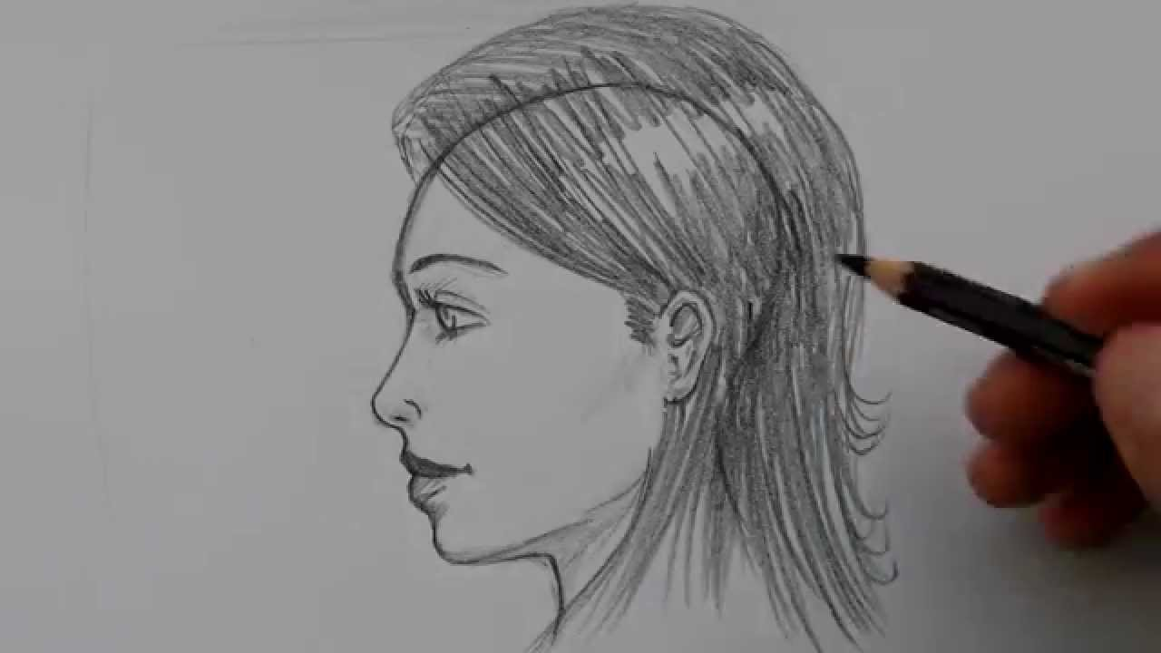 Easy Way To Draw A Face (side View)