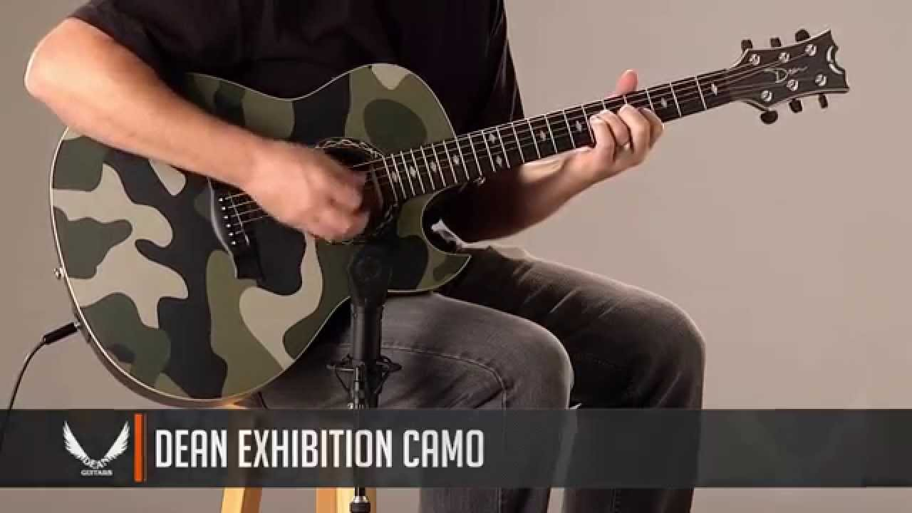 Dean Guitars Exhibition Camo Acoustic Electric