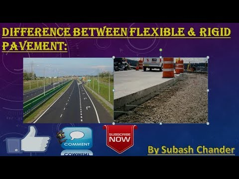 What is the Difference between Flexible and Rigid Pavement (In Hindi)
