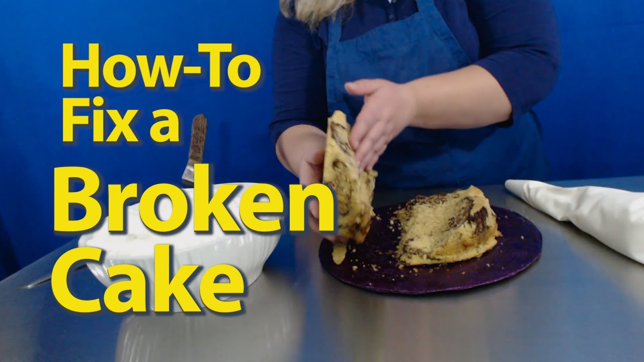 How to Fix a Broken Cake - Easy to Repair Cracked Cake  - Darci Decorates