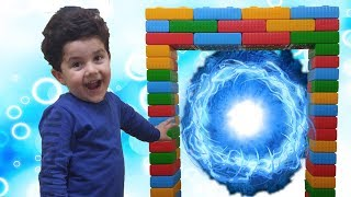 Yusuf Sihirli Kapı Yaptı | Pretend Play With Colored Brick | Five little monkeys nursery rhymes song