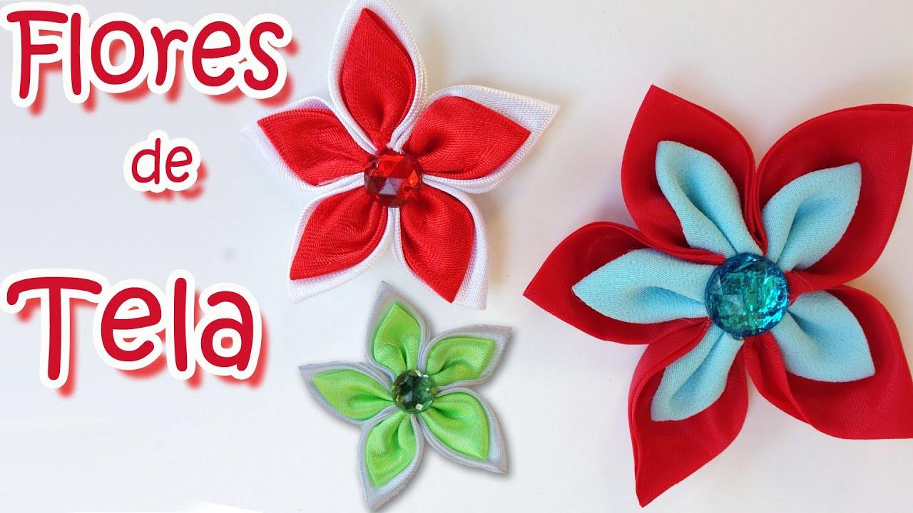 Manualidades como hacer flores de tela manualidades - Ver como hacer manualidades ...