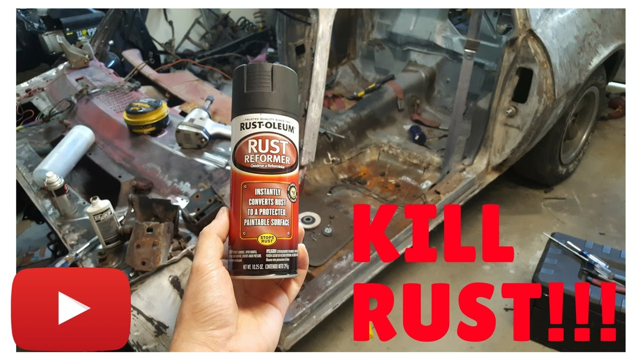 How To Remove Rust With Vinegar Etch And Rust Oleum Youtube