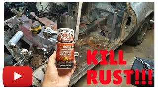 how to remove rust with vinegar (etch) and rust-oleum