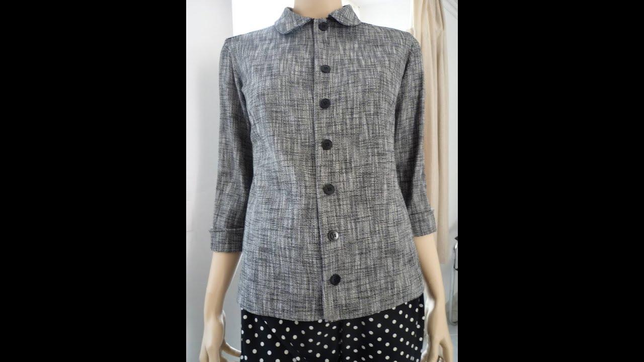 """Hervorragend Comment coudre une """"chemise-veste"""" non doublée. Kit de chez """"Les  MK75"""