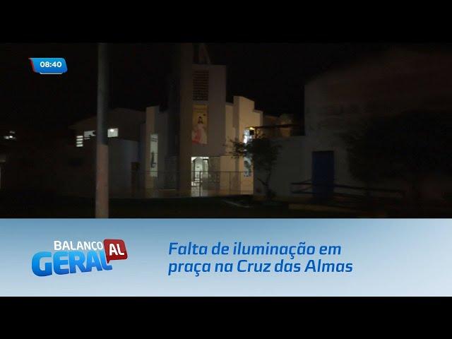 Moradores reclamam da falta de iluminação em praça na Cruz das Almas