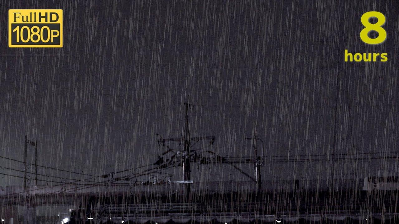 雷雨の音でリラックスする8時間(作業・勉強・読書・リラックス・睡眠用)