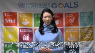 COP21に寄せて UNDP親善大使 紺野美沙子.