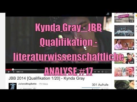 JBB 2014 Kynda Gray Qualifikation - Literaturwissenschaftliche Analyse #17