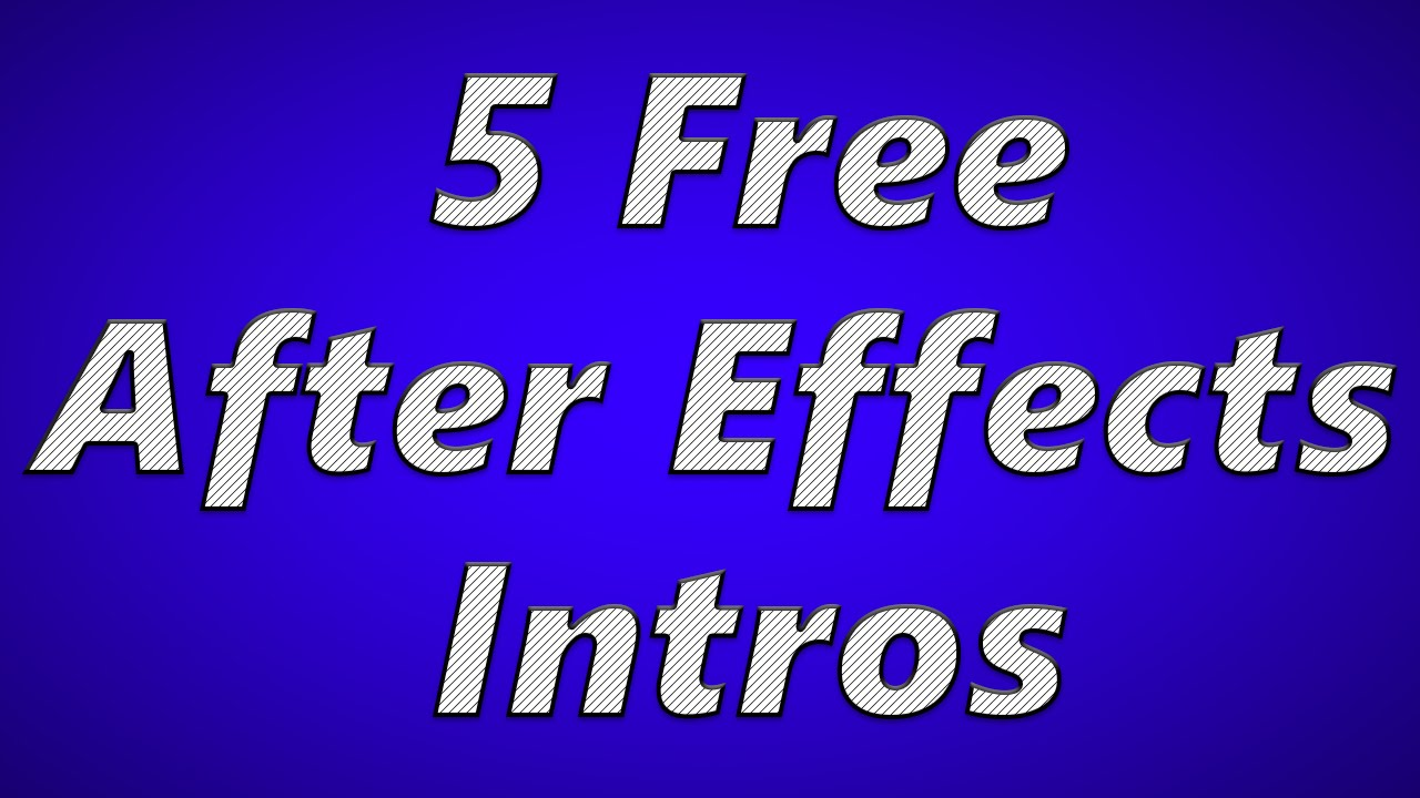 5 free after effects intro templates 2015 free download for After effects youtube intro