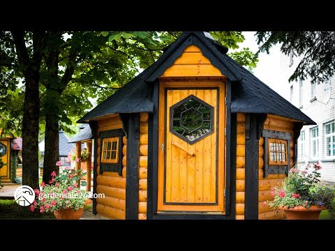 The Baby BBQ Huts | Prefab Scandinavian Grill houses (Grillikota) | Walk around