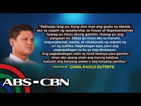 Paolo Duterte nakiusap na huwag siyang idamay sa speakership race