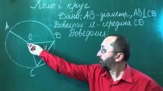 Коло і круг Урок 1 Геометрія 7 клас