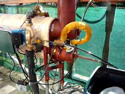 Babington waste oil burner boiler