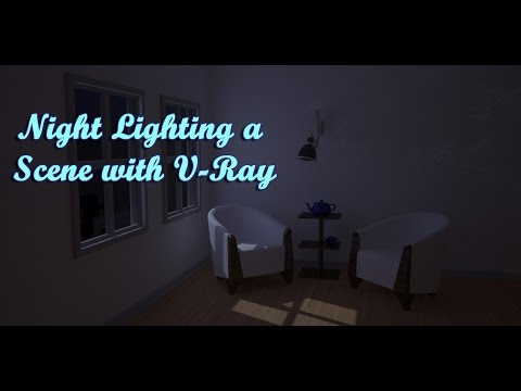 Interior Night Lighting With V-Ray