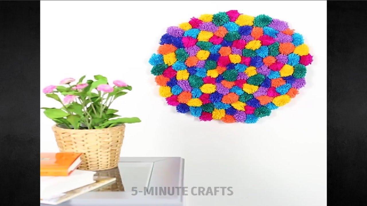 3 yarn crafts 5 minute crafts youtube. Black Bedroom Furniture Sets. Home Design Ideas