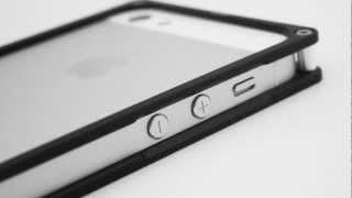 aluminum 6061 t6 metal bumper frame case black color for iphone 5