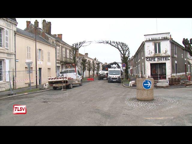 Luçon : les travaux d'assainissement avancent avenue Michel Rambaud