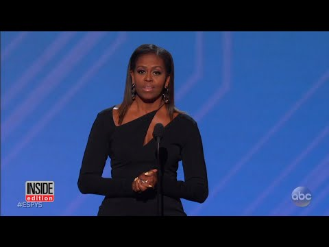 Former First Lady Michelle Obama Dazzles In Black Dress At ESPY Awards