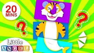 Baby Shark, Tiger Boo Boo and Baboon Play Mix and Match!  | Nursery Ryhmes by Little Angel
