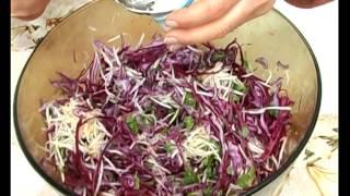 Салат с синей капустой. Тетянина садиба 2014