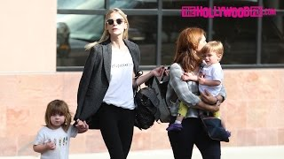Jaime King Takes Her Two Sons James & Leo Out On A Shopping Trip With The Nanny 4.18.17